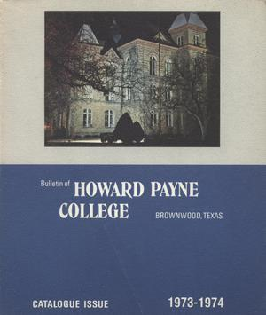 Primary view of object titled 'Catalogue of Howard Payne College, 1972-1973'.