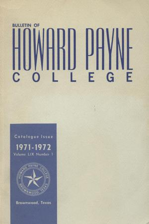 Primary view of object titled 'Catalogue of Howard Payne College, 1970-1971'.