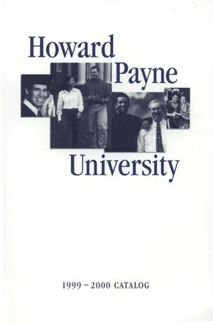 Primary view of object titled 'Catalog of Howard Payne University, 1999-2000'.