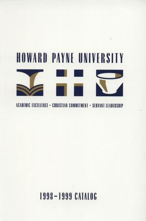 Primary view of object titled 'Catalog of Howard Payne University, 1998-1999'.