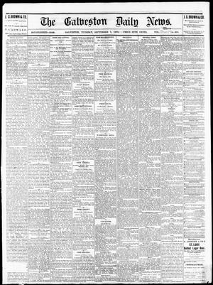 Primary view of object titled 'The Galveston Daily News. (Galveston, Tex.), Vol. 34, No. 205, Ed. 1 Tuesday, September 7, 1875'.