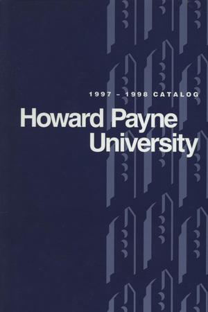 Primary view of object titled 'Catalog of Howard Payne University, 1997-1998'.