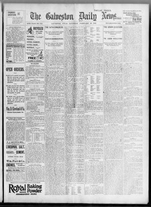 Primary view of object titled 'The Galveston Daily News. (Galveston, Tex.), Vol. 54, No. 342, Ed. 1 Saturday, February 29, 1896'.