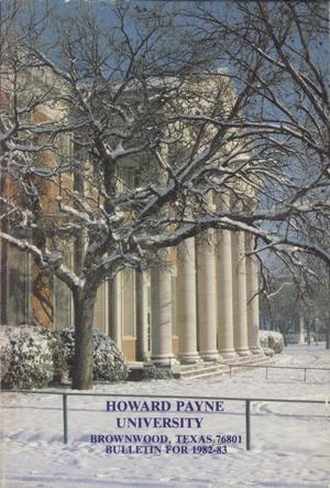 Catalog of Howard Payne University, 1982-1983