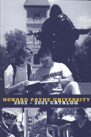Primary view of object titled 'Catalog of Howard Payne University, 2002-2003'.