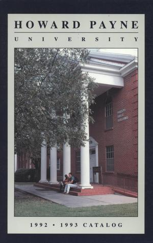 Primary view of object titled 'Catalog of Howard Payne University, 1992-1993'.