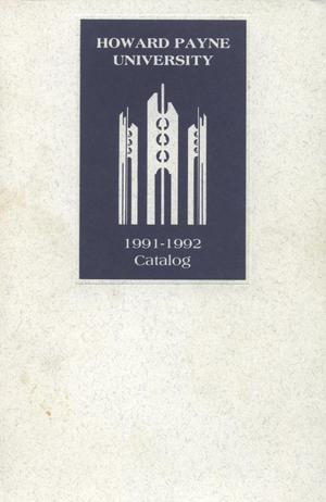 Primary view of object titled 'Catalog of Howard Payne University, 1991-1992'.