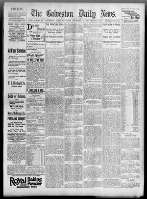 Primary view of object titled 'The Galveston Daily News. (Galveston, Tex.), Vol. 54, No. 237, Ed. 1 Saturday, November 16, 1895'.