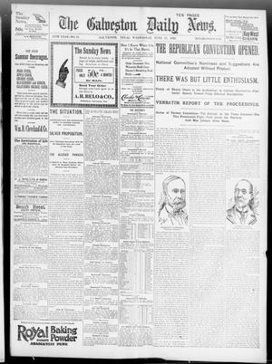 Primary view of object titled 'The Galveston Daily News. (Galveston, Tex.), Vol. 55, No. 85, Ed. 1 Wednesday, June 17, 1896'.