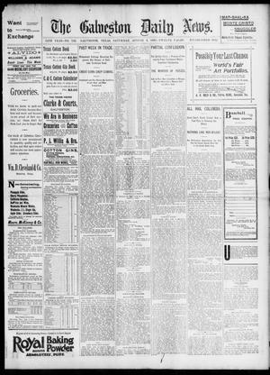 Primary view of object titled 'The Galveston Daily News. (Galveston, Tex.), Vol. 54, No. 132, Ed. 1 Saturday, August 3, 1895'.