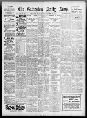 Primary view of object titled 'The Galveston Daily News. (Galveston, Tex.), Vol. 54, No. 183, Ed. 1 Monday, September 23, 1895'.