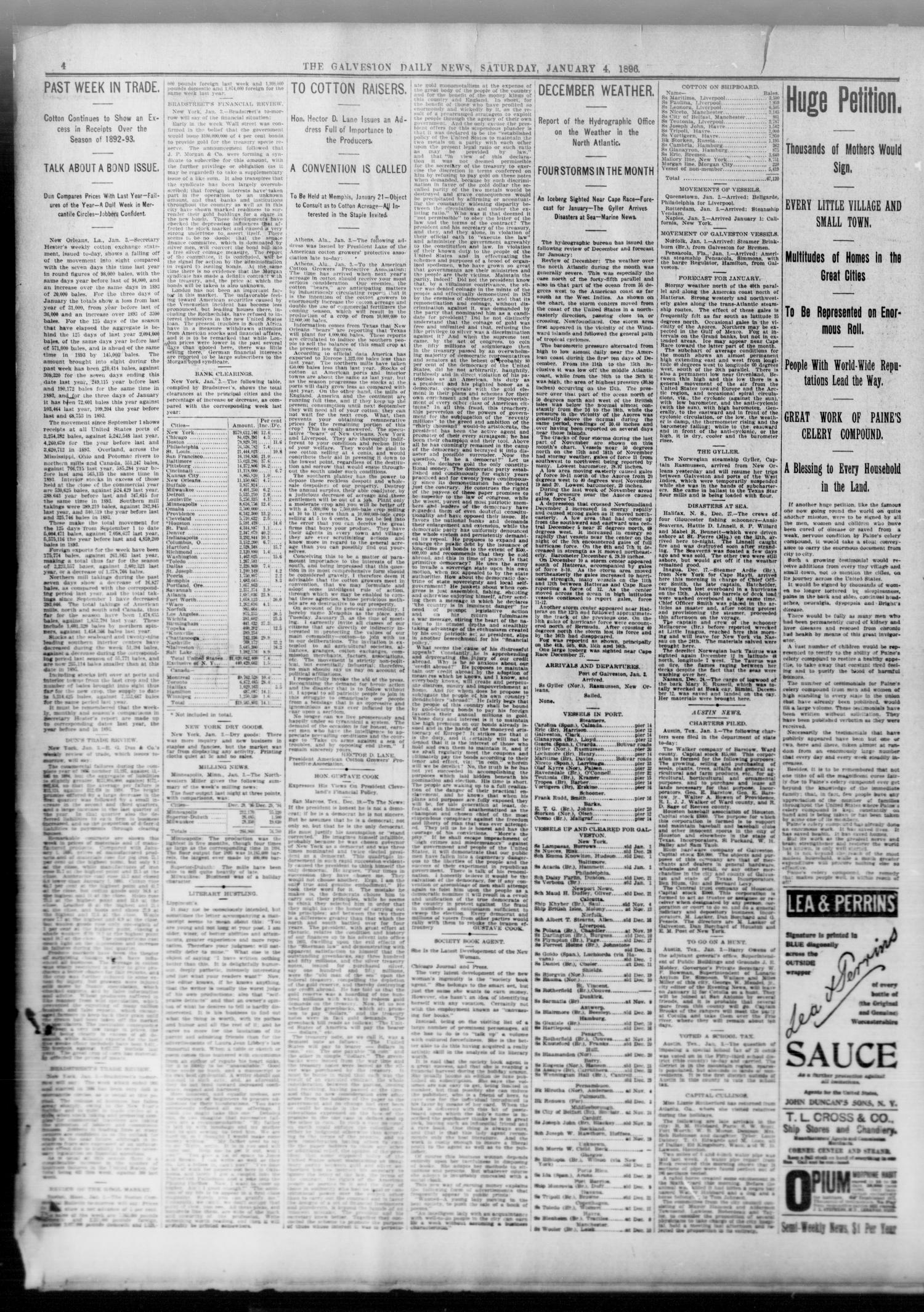 The Galveston Daily News Galveston Tex Vol 54 No