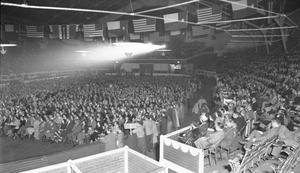 [View of the audience at the Cowtown Coliseum]