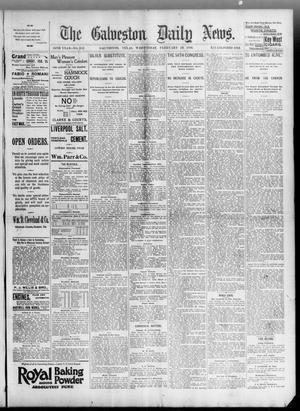 Primary view of object titled 'The Galveston Daily News. (Galveston, Tex.), Vol. 54, No. 332, Ed. 1 Wednesday, February 19, 1896'.