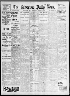 Primary view of object titled 'The Galveston Daily News. (Galveston, Tex.), Vol. 55, No. 197, Ed. 1 Wednesday, October 7, 1896'.