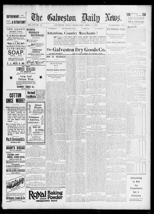 Primary view of The Galveston Daily News. (Galveston, Tex.), Vol. 54, No. 24, Ed. 1 Wednesday, April 17, 1895