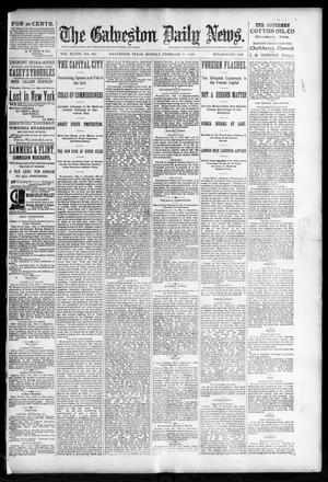 Primary view of object titled 'The Galveston Daily News. (Galveston, Tex.), Vol. 48, No. 289, Ed. 1 Monday, February 10, 1890'.