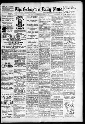 Primary view of The Galveston Daily News. (Galveston, Tex.), Vol. 48, No. 286, Ed. 1 Friday, February 7, 1890