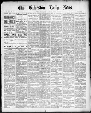Primary view of object titled 'The Galveston Daily News. (Galveston, Tex.), Vol. 49, No. 257, Ed. 1 Monday, January 12, 1891'.