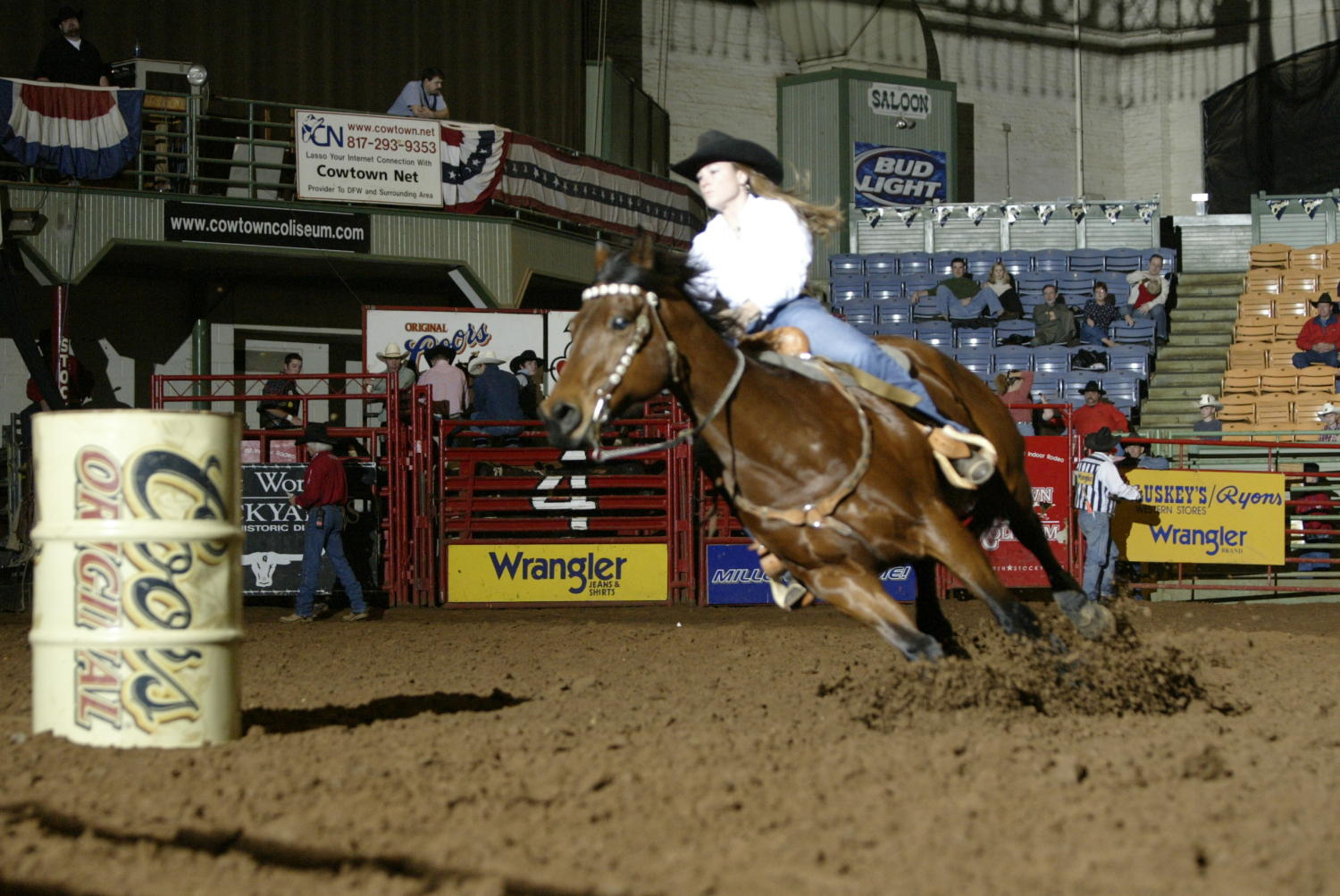 [Barrel Racing at Cowtown Coliseum]                                                                                                      [Sequence #]: 1 of 1