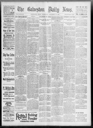 Primary view of object titled 'The Galveston Daily News. (Galveston, Tex.), Vol. 51, No. 244, Ed. 1 Wednesday, November 23, 1892'.