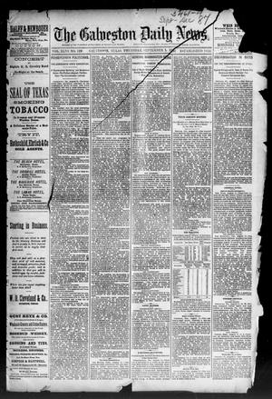 Primary view of object titled 'The Galveston Daily News. (Galveston, Tex.), Vol. 46, No. 128, Ed. 1 Thursday, September 1, 1887'.