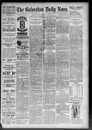 Primary view of object titled 'The Galveston Daily News. (Galveston, Tex.), Vol. 48, No. 54, Ed. 1 Thursday, June 20, 1889'.