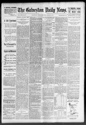 Primary view of object titled 'The Galveston Daily News. (Galveston, Tex.), Vol. 49, No. 95, Ed. 1 Saturday, August 2, 1890'.