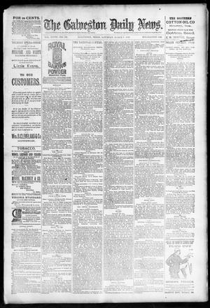 Primary view of object titled 'The Galveston Daily News. (Galveston, Tex.), Vol. 48, No. 308, Ed. 1 Saturday, March 1, 1890'.