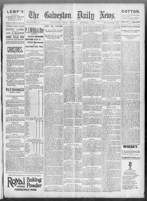 Primary view of object titled 'The Galveston Daily News. (Galveston, Tex.), Vol. 52, No. 231, Ed. 1 Thursday, November 9, 1893'.