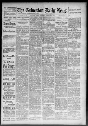 Primary view of object titled 'The Galveston Daily News. (Galveston, Tex.), Vol. 47, No. 306, Ed. 1 Wednesday, February 27, 1889'.