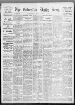 Primary view of object titled 'The Galveston Daily News. (Galveston, Tex.), Vol. 51, No. 179, Ed. 1 Monday, September 19, 1892'.