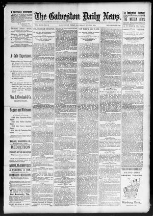 Primary view of object titled 'The Galveston Daily News. (Galveston, Tex.), Vol. 49, No. 82, Ed. 1 Saturday, July 19, 1890'.
