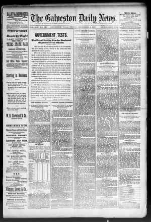 Primary view of object titled 'The Galveston Daily News. (Galveston, Tex.), Vol. 46, No. 136, Ed. 1 Friday, September 9, 1887'.