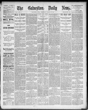 Primary view of object titled 'The Galveston Daily News. (Galveston, Tex.), Vol. 50, No. 1, Ed. 1 Wednesday, March 25, 1891'.