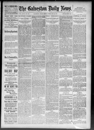Primary view of object titled 'The Galveston Daily News. (Galveston, Tex.), Vol. 47, No. 294, Ed. 1 Friday, February 15, 1889'.