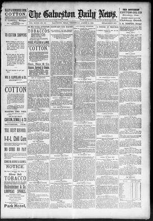 Primary view of object titled 'The Galveston Daily News. (Galveston, Tex.), Vol. 48, No. 109, Ed. 1 Wednesday, August 14, 1889'.