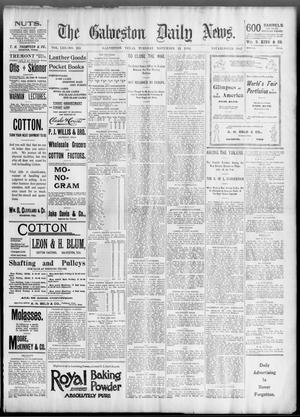 Primary view of object titled 'The Galveston Daily News. (Galveston, Tex.), Vol. 53, No. 235, Ed. 1 Tuesday, November 13, 1894'.