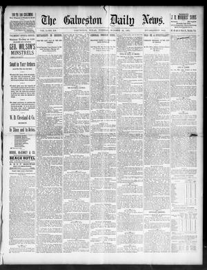 Primary view of object titled 'The Galveston Daily News. (Galveston, Tex.), Vol. 50, No. 210, Ed. 1 Tuesday, October 20, 1891'.