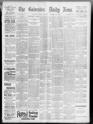 Primary view of object titled 'The Galveston Daily News. (Galveston, Tex.), Vol. 51, No. 170, Ed. 1 Saturday, September 10, 1892'.