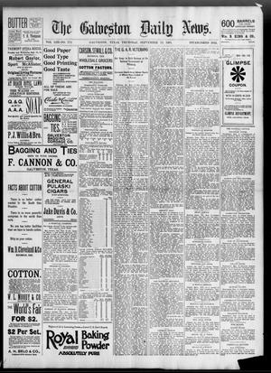 Primary view of object titled 'The Galveston Daily News. (Galveston, Tex.), Vol. 53, No. 174, Ed. 1 Thursday, September 13, 1894'.