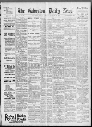 Primary view of object titled 'The Galveston Daily News. (Galveston, Tex.), Vol. 51, No. 303, Ed. 1 Saturday, January 21, 1893'.
