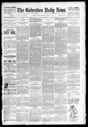 Primary view of object titled 'The Galveston Daily News. (Galveston, Tex.), Vol. 48, No. 348, Ed. 1 Thursday, April 10, 1890'.