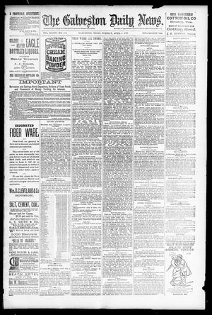 Primary view of object titled 'The Galveston Daily News. (Galveston, Tex.), Vol. 48, No. 346, Ed. 1 Tuesday, April 8, 1890'.