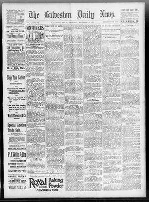 Primary view of object titled 'The Galveston Daily News. (Galveston, Tex.), Vol. 51, No. 259, Ed. 1 Thursday, December 8, 1892'.