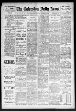 Primary view of object titled 'The Galveston Daily News. (Galveston, Tex.), Vol. 48, No. 138, Ed. 1 Wednesday, September 11, 1889'.