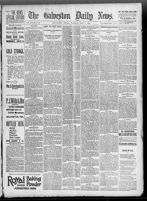 Primary view of object titled 'The Galveston Daily News. (Galveston, Tex.), Vol. 52, No. 103, Ed. 1 Tuesday, July 4, 1893'.
