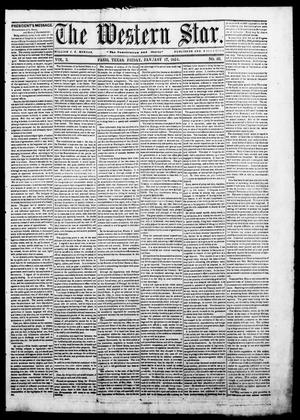 Primary view of The Western Star. (Paris, Tex.), Vol. 3, No. 50, Ed. 1 Friday, January 17, 1851