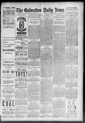 Primary view of object titled 'The Galveston Daily News. (Galveston, Tex.), Vol. 48, No. 214, Ed. 1 Wednesday, November 27, 1889'.