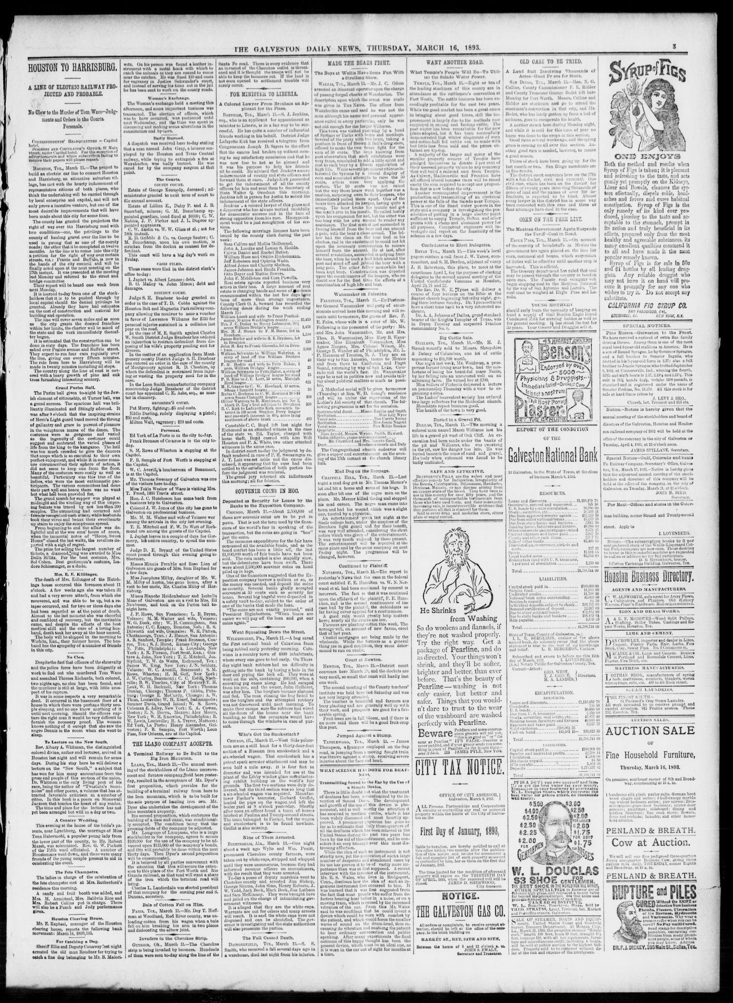 The Galveston Daily News  (Galveston, Tex ), Vol  51, No